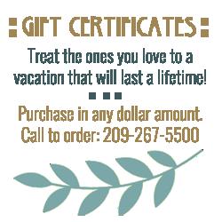 eureka street inn gift certificates